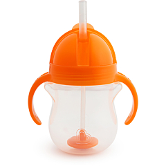 Click Lock Weighted Flexi-Straw Cup - 7oz (Orange)